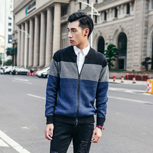 2017 Autumn Winter men cardigans Sweaters Long Sleeve Coat Zipper Casual Sweater Knitted Male Sweater XN049
