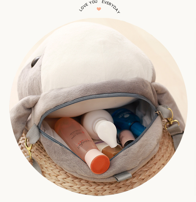 2018 Cute Soft Plush Long Ear Rabbit Backpack Kawaii Stuffed Rabbit Toy Children School Bag Gift Kids Toy for Girl Friend in Plush Backpacks from Toys Hobbies