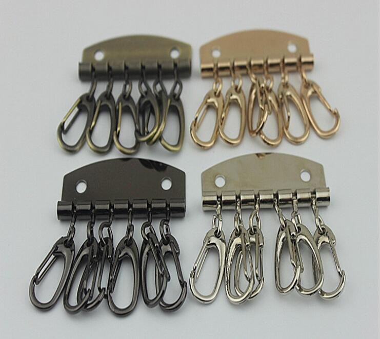 (10 PCS / lot) Bags Handbags Hardware Accessories Handmade DIY Leather Keychain Handle Key Chain Decorative Accessories
