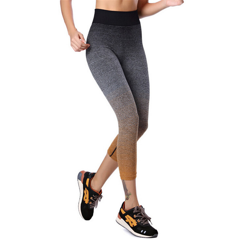 Prix pour Nouveaux Pantalons De Yoga Pour Les Femmes Taille Élastique Leggins Gym Vêtements Minceur De Sport Lulu Workout Sport Fitness Slim Vêtements de Course K097