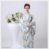 Alta Moda Mujeres Novedad Yukata Kimono Con Obi Estilo Japonés de La Vendimia de Fiesta Vestido de Rendimiento Traje de la Danza Un Tamaño