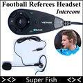 Árbitro profesional Intercomunicador V5 Árbitro Auriculares Full Duplex de Comunicación Bluetooth Inalámbrico para Juegos de Fútbol y Balonmano