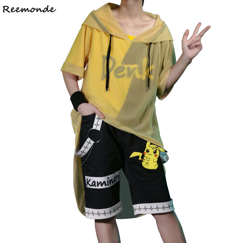 Boku No Hero Academia Kaminari Denki Shirt Cosplay Costume My Hero Academia Coat Pants Hat Full Set Wigs Men Girls Boys Clothing