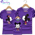 10 Colors Mickey Family Cartoon Mouse Ropa Familia Madre E Hijos Short Sleeve Matching Family Outfits Mom And Daughter Clothes