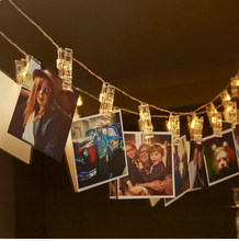 ZYY LED Clip Photo Hanging Wall Light Clip Fairy String Light Chains Lamp Picture Birthday Party Decoration Battery(China)