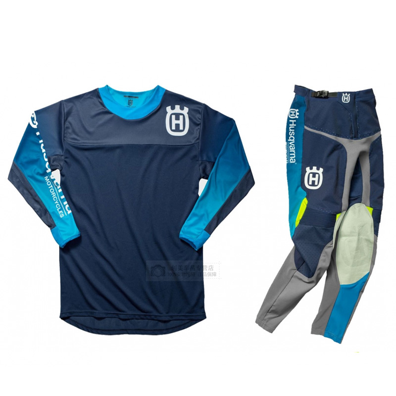 wholesale For Husqvarna Husky Style Men Motocross Suit Motobiker Racing Riding Jersey Pants Motorcycle MX riding