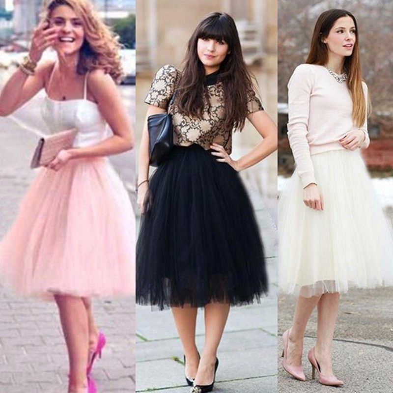 Aliexpress Buy Layered Adult Long Tulle Skirt Elastic High