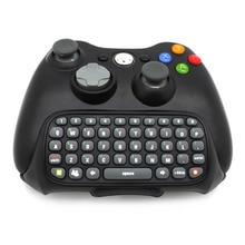 Mini Keyboard Wireless Controller Text Messenger Keyboard 47 keys Chatpad Keypad for Xbox 360 Game Controller Black цена