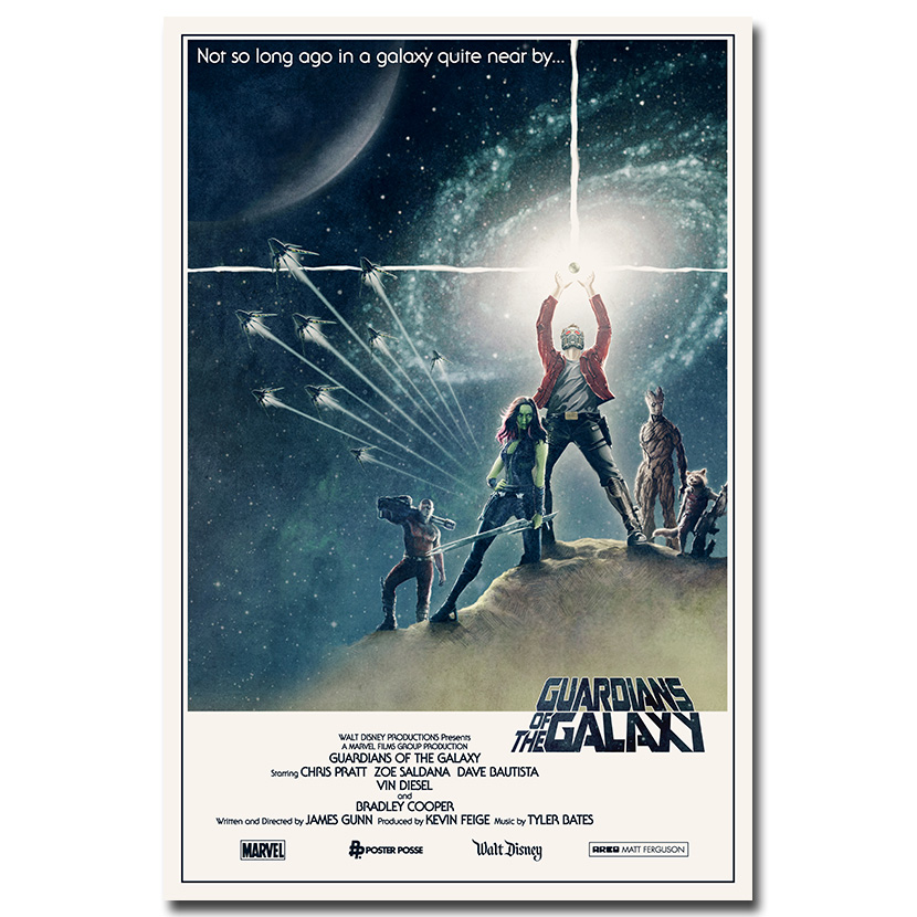 Guardians Of The Galaxy Movie Art Silk Canvas Poster 13x24 24x43 inch