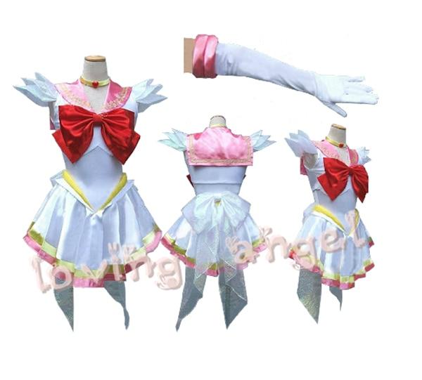 Hot Selling Sailor Moon Sailor Chibimoon Chibi Usa Fighting Uniform Cosplay Costume Custumized Size