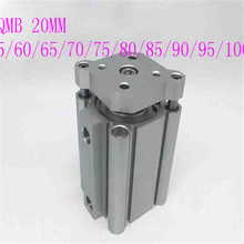 цена на smc type air cylinder CQMB bore 20mm stroke 55/60/65/70/75/80/85/90/95/100mm compact guide rod pneumatic cylinder piston