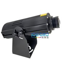 Professional Exterior 100W LED Black Image Projector Perfect Gobo Light for Your Event with Manual Zoom Integrated Gobo Rotator