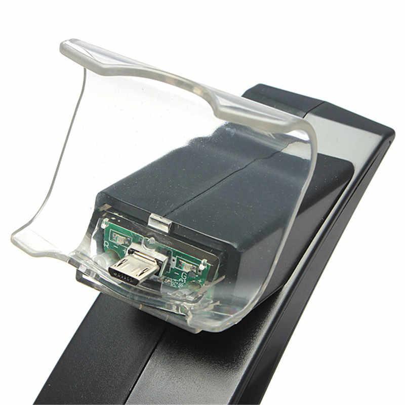 أفضل كبيرة شاحن محطة الوقوف لمدة PS4 تحكم أعلى بيع الأسود PVC المواد المزدوجة USB حوض شحن ل Playstaion 4
