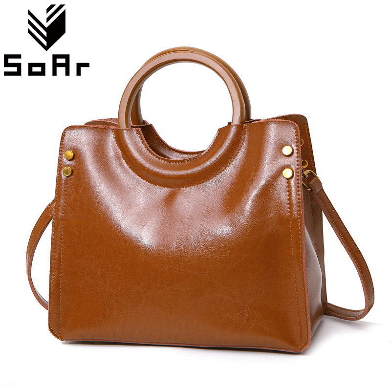 SoAr New Fashion Genuine Leather Women Handbags Famous Brand Female Messenger Shoulder Bags Ladies Totes Bolsa Feminina Hot Sale hot sale 2016 france popular top handle bags women shoulder bags famous brand new stone handbags champagne silver hobo bag b075