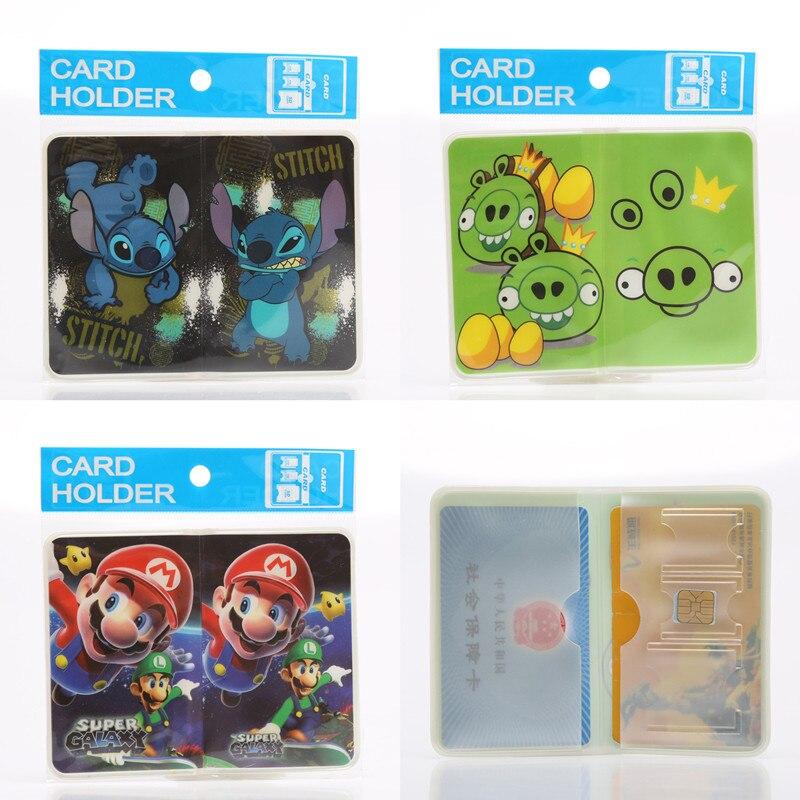 2017 Cartoon Gevouwen Kaarthouders Spons Bob Stitch Vogels Union Vlag Pvc Id & Ic Card Cover 8 Kleuren Creditcard Case Voor 2 Kaarten De Laatste Mode