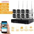 Loosafe kit nvr cctv sem fio wifi ip câmera de vigilância de vídeo hd 960 P 8CH KIT CCTV Sistema de Câmera De Segurança WI-FI Ao Ar Livre 1 T HDD