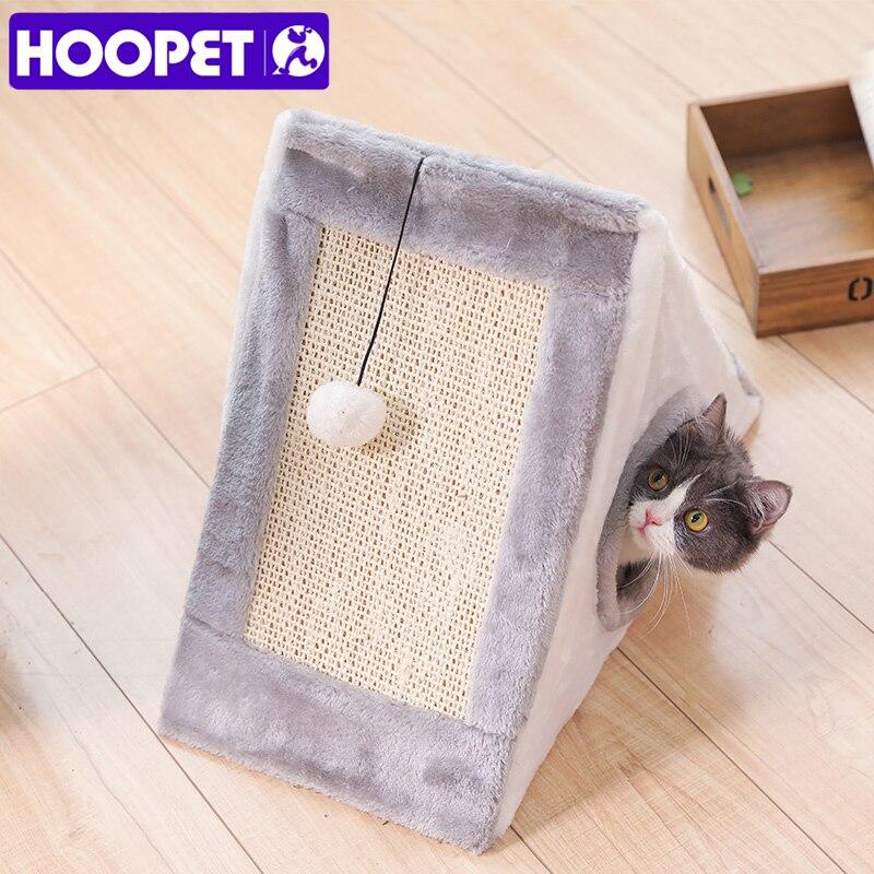 HOOPET chat maison jouet lit de jeu drôle pour animal de compagnie chiot doux fournitures de conseil à gratter
