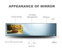 2K Resolution Car DVR 2560 1440 4 3inch Rearview Mirror Av In Backup Camera Optional