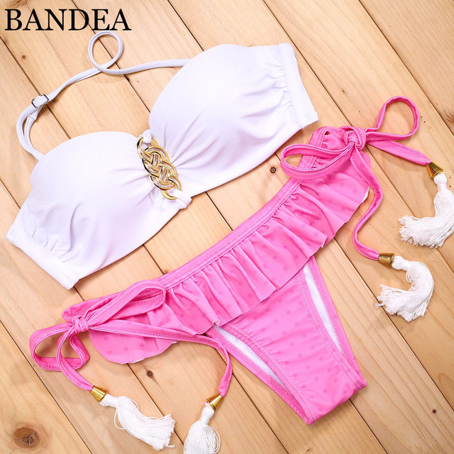 BANDEA Bikini Cheeky bottoms beachwear Swimming trunks Women's swimsuit bottoms Swimwear Bikinis red brazilian bikini bottoms