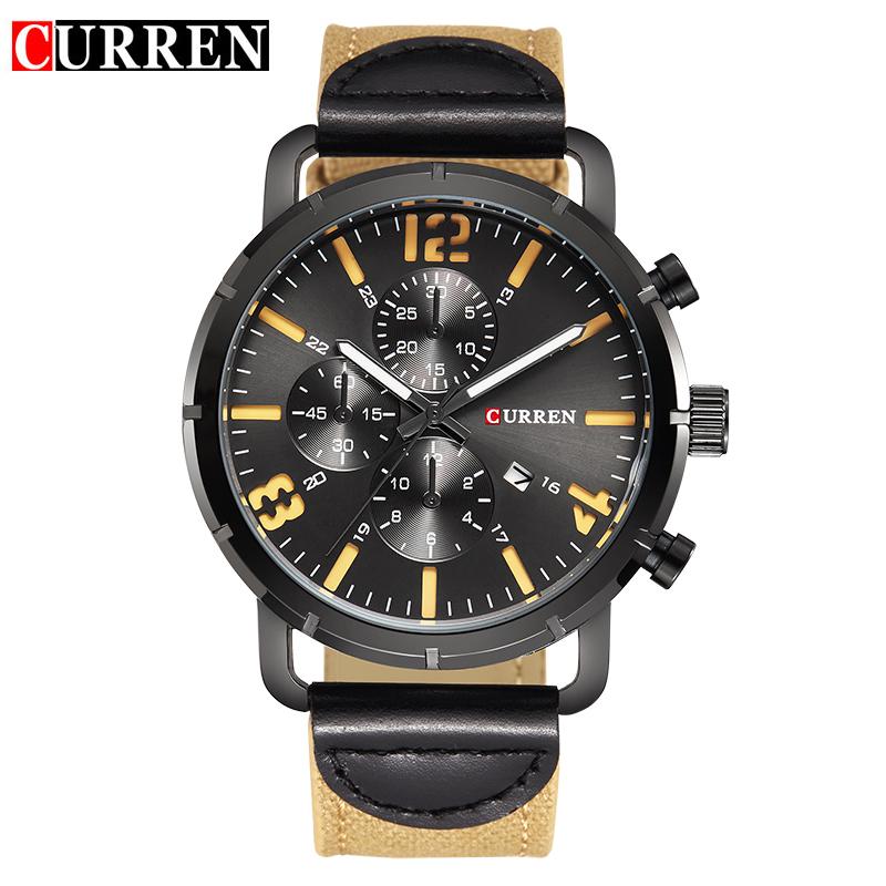 Prix pour CURREN montres hommes Top Marque de mode montre à quartz montre mâle relogio masculino hommes Armée sport Analogique Occasionnel 8194