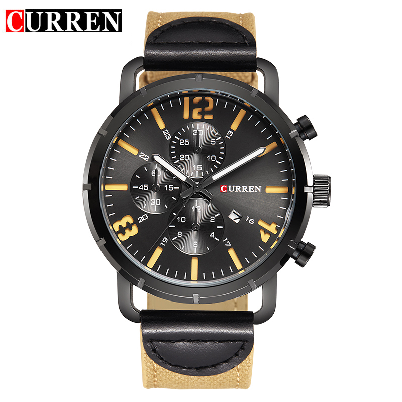 Curren watches men top brand fashion watch quartz watch male relogio masculino men army sports for Curren watches