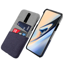For OnePlus 7 7 Pro Case Retro Farbic Cloth Cards Holder Ultra Slim Fit Anti-Scratch Hard PC Back Cover For One Plus 7 Pro Case