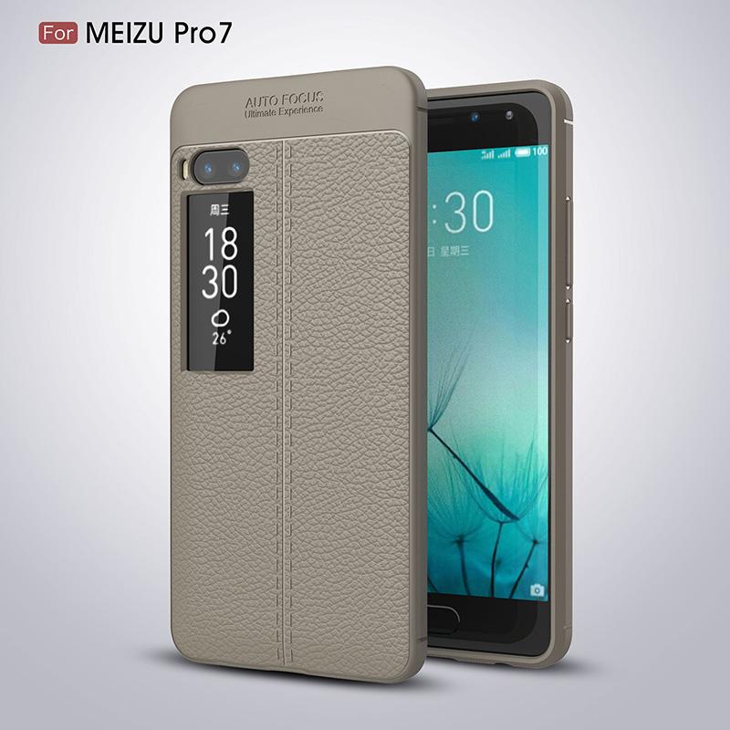 Litchi leather silicone case Meizu Pro 7 (13)