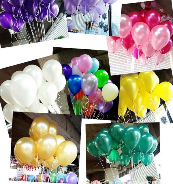 Party supplies wedding decoration pearlized metallic latex balloons party supplies wedding decoration pearlized metallic latex balloons best price birthday decoration 10inch 50pcslot wholesale in ballons accessories from junglespirit Image collections