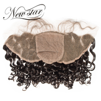 NEW STAR Brazilian Deep Curl 13x4 Silk Base Lace Frontal 10'' 20'' Inches Free Part With Baby Hair Virgin Human Hair Salon