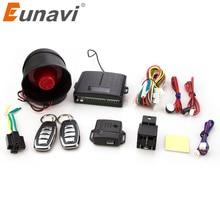 Eunavi 102 односторонняя Автомобильная сигнализация и центральный дверной замок, ключ безопасности, Wth пульт дистанционного управления, сирена, датчик для Toyota