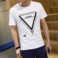 T aliexpress china cheap wholesale 2017 new Summer male o-neck slim men fashion casual short-sleeve T-shirt