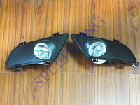 2 Pcs Pair RH And LH Front Bumper Fog Lights Lamps Cover For Mazda 6 2003