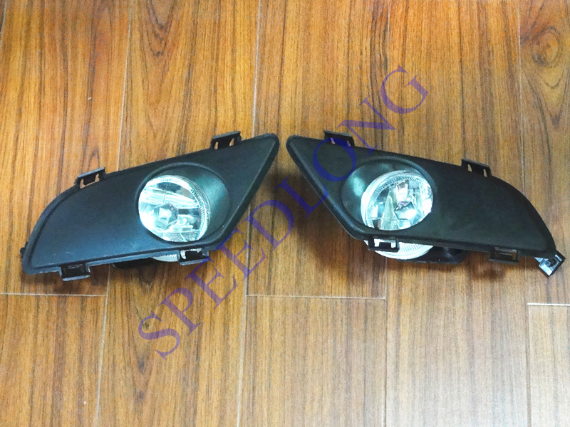 2 Pcs/Pair RH and LH Front bumper driving fog lamps light with covers for Mazda 6 2003-2005 1pair lh rh bumper fog driving lamps fog light lens with bulb for chrysler sebring