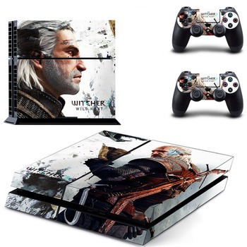 PS4 Skins Best Buy The Witcher 3:Wild Hunt Hot Vinyl Skin Sticker For Sony PlayStation 4 Console For PS4 Dualshock 4 Controller