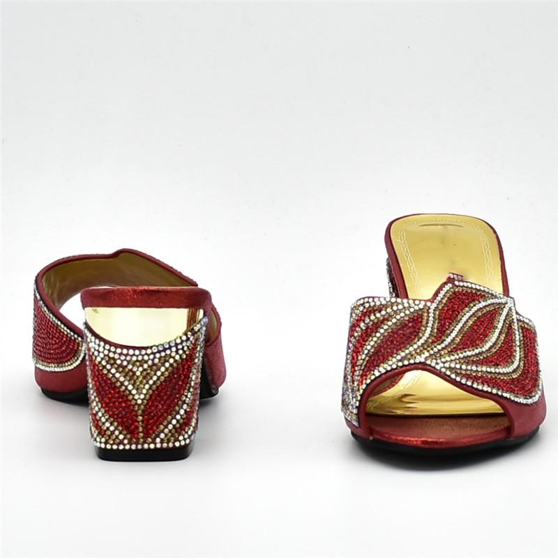 rouge Strass 2018 Mariage Sliver orange Décoré Femmes Nouveau Femininas Avec Sandalias Nigérian De purple Designer Rasteiras Luxe Chaussures or 0vwqT6X