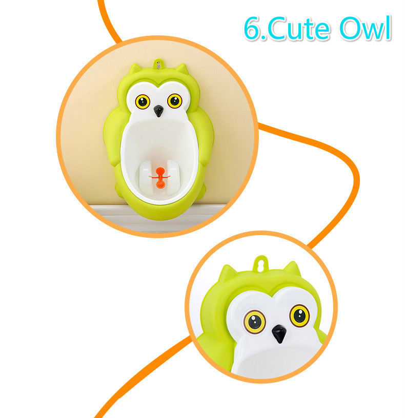Baby boy Urinal Pee Frog and Owl baby toilet training Colored Children Potty Baby Urine Groove PP hooked Urinal for kids (5)