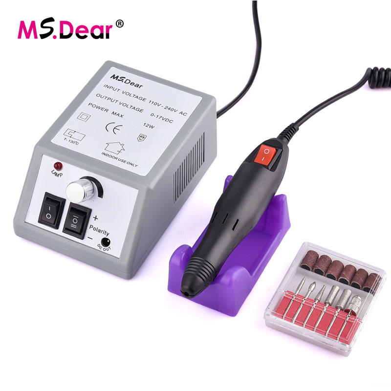 все цены на Professional 20000RPM Nail Electric Drill Manicure Machine Set Electric Nail Art Drill Sanding File Bit Drill Nail Art Tools онлайн
