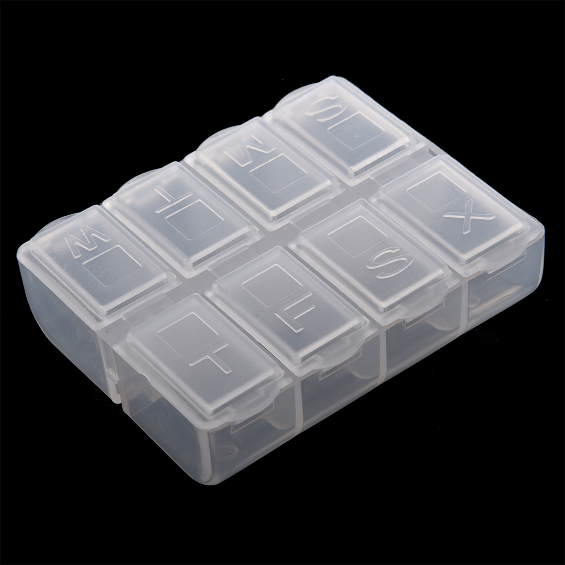 Best Plastic Weekly Pill Box Medicine Holder Clear White In Storage