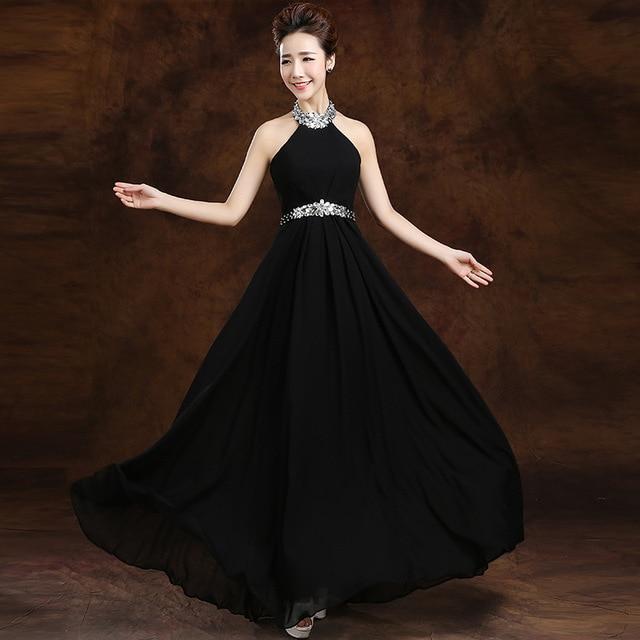 Vestido negro para boda en la tarde