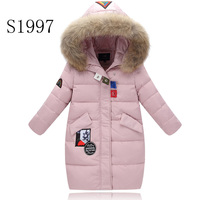 Warm Winter Coat White Duck Down 5 14T Kid Winter Coat Down Parkas Hooded Raincoat Long