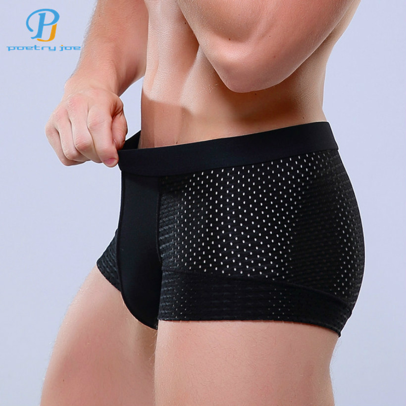 Breathable Mesh Silk Men's Boxer  Four Corner Underwear Wholesale New 2016 Underwear Men Cotton Mens Bodysuit Underwear