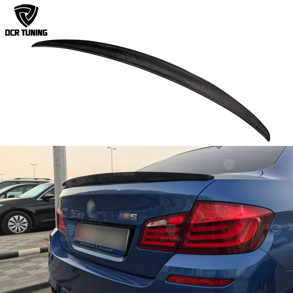 P Style For BMW F10 Spoiler Performance 2010-UP 5 Series Sedan F10 Carbon Spoiler F10 M5 Rear Trunk Wings M Series F90 M5 2018+ спойлер bmw f10 5 2010