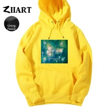 Dandelion Seeds Freedom life Taraxacum Green plant watercolor print Couple Clothes Autumn Winter Fleece Man Boys Hoodies ZIIART цены