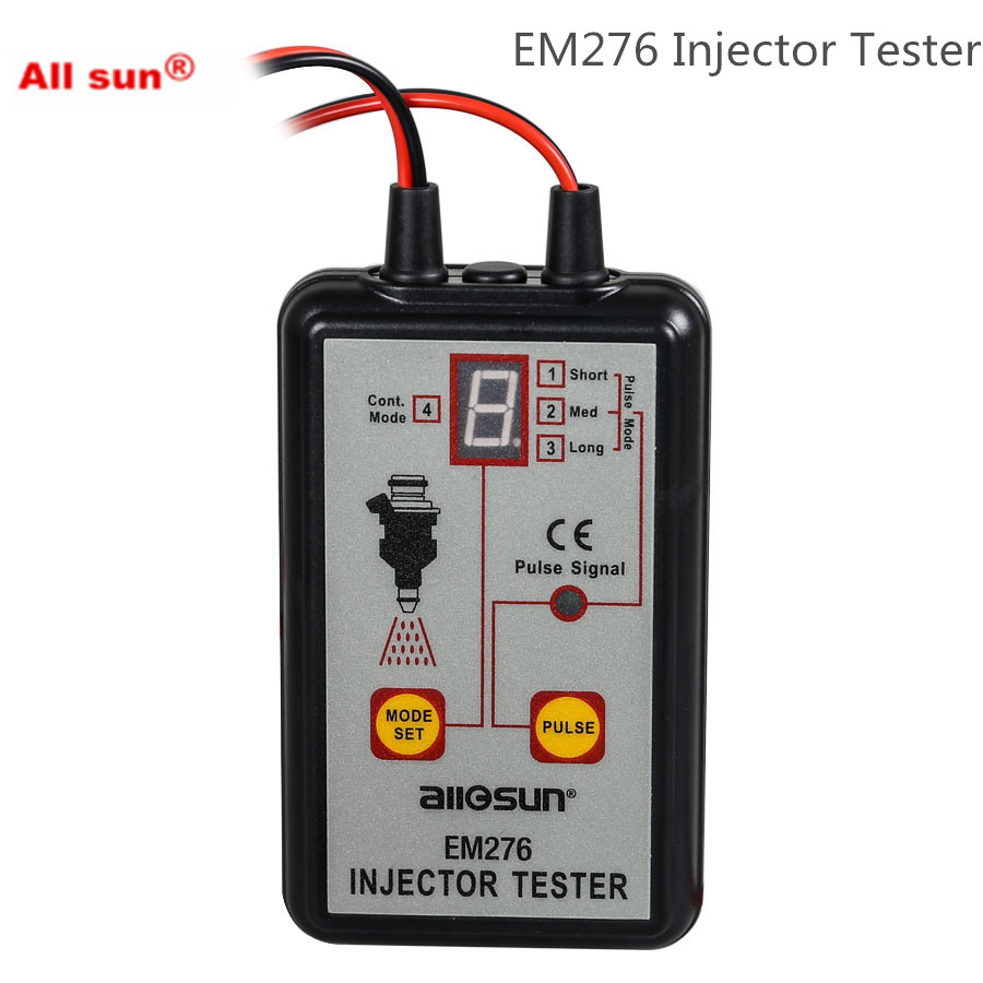 ALL SUN EM276 Professional Injector Tester Fuel Injector 4 Pluse Modes Tester Powerful Fuel System Scan Tool EM276(China)
