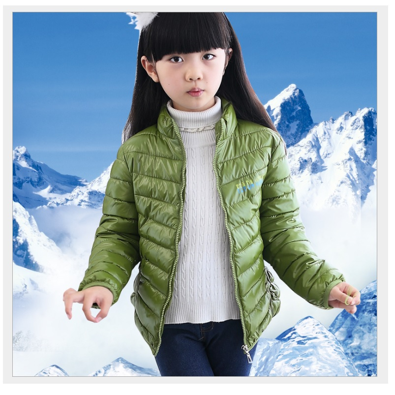 Green Girls Down Jackets Tops Kids Parkas Boys Outfits Coats Winter Outerwear Snow Children Clothes