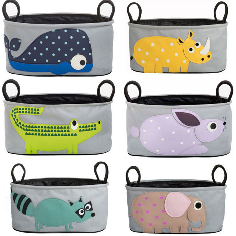 Baby Stroller Bags Cute Carriage Pram Cart Animal Storage Mummy Nappy Bag Water Bottle Diaper Bag Baby Strollers Accessories