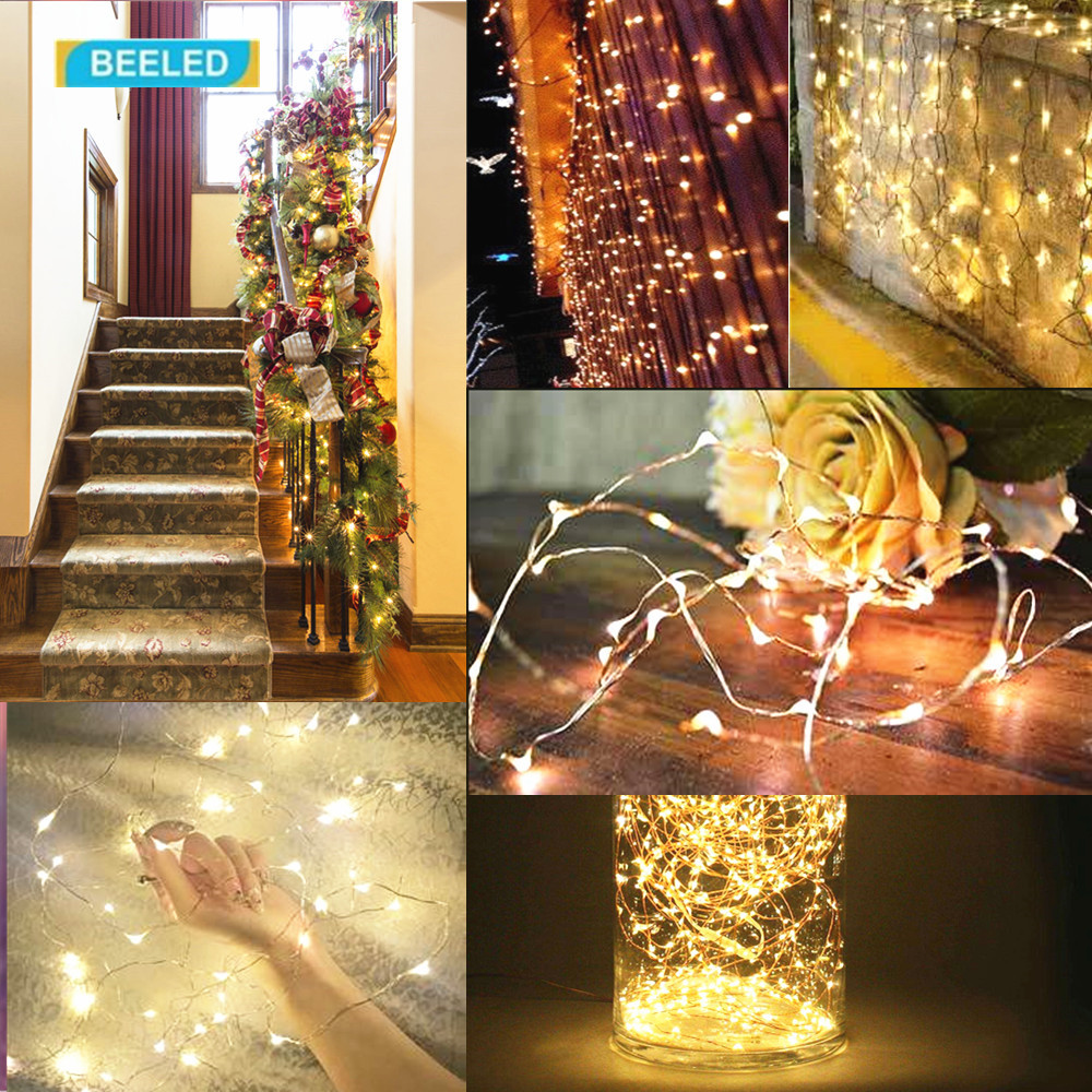 String Lights Solor Wireless 10m 100 Leds Waterproof Outdoor Christmas Decorations Led Solar Lamps Flexible Copper Light In Lighting Strings From