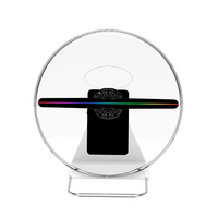30cm 3D Hologram Advertising Fan light display LED customized photos videos 3d Display Advertising logo Light 16GB 256lamp beads