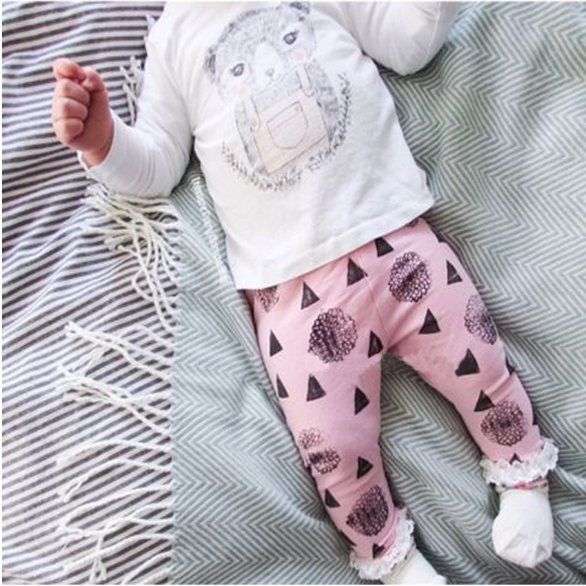 2016 Autumn Fashion Girl's Clothing set cotton long-sleeved T-shirt + cartoon pants newborn baby Set of clothes girl suit SY170 polo golf clothes costume lady golf zipper collar shirt cotton autumn jacket long sleeved tshirt fashion korean female clothing