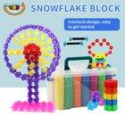 80-1200 Pcs 3D Puzzle Jigsaw Plastic Snowflake Construction Building Model Puzzle Educational Intelligence Toys For Kids